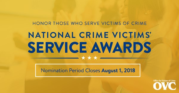 2019 National Crime Victims' Service Awards Nomination Ad